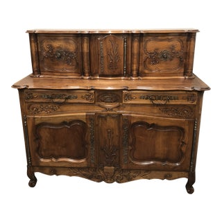 19th Century French Walnut Buffet Glissante
