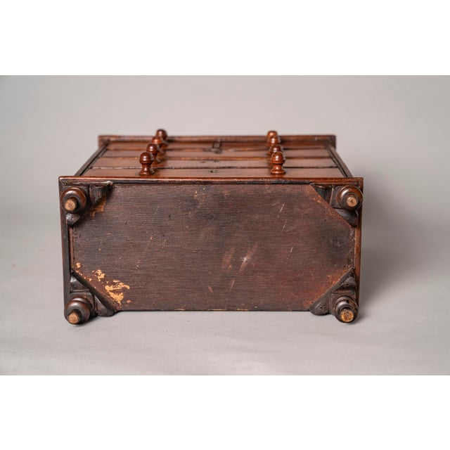 Cherry Wood C 1820 English Model of Cherry Wood Chest of Drawers Apprentice Piece and Salesman Sample For Sale - Image 7 of 8