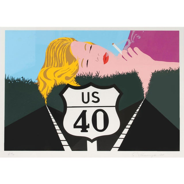 Pop Art Allan D'arcangelo, Smoke Dreams, Pop Art Serigraph For Sale - Image 3 of 3