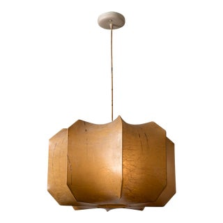 Italian Resin Cocoon Pendant Lamp in the Style of Pier and Achille Castiglioni, 1960s For Sale