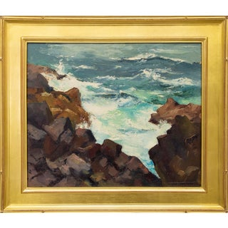 Mendocino Rocks (California), Original Oil Painting by Jon Blanchette For Sale