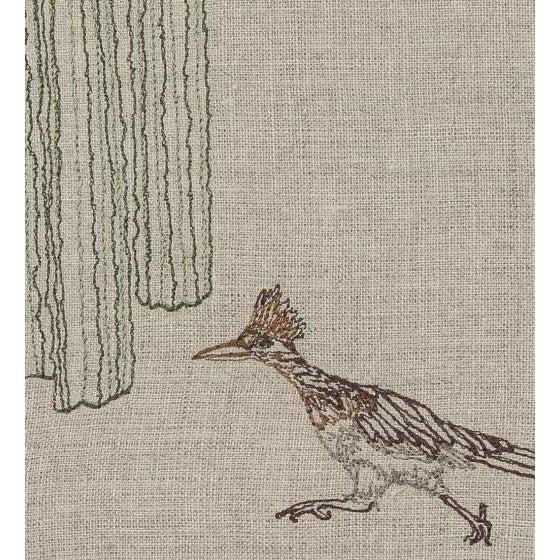 Roadrunner and Organ Pipe Cacti Tea Towel For Sale - Image 6 of 9