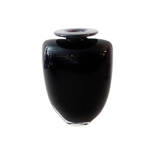 Kosta Boda Aubergine Vase