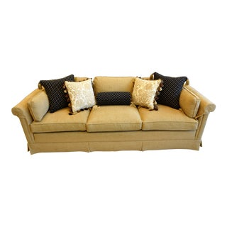1980s Vintage Baker Tan Sofa For Sale