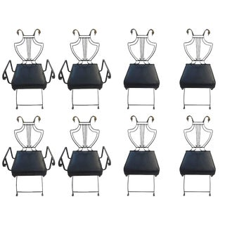 Maison Jansen Metal Chairs - Set of 8 For Sale