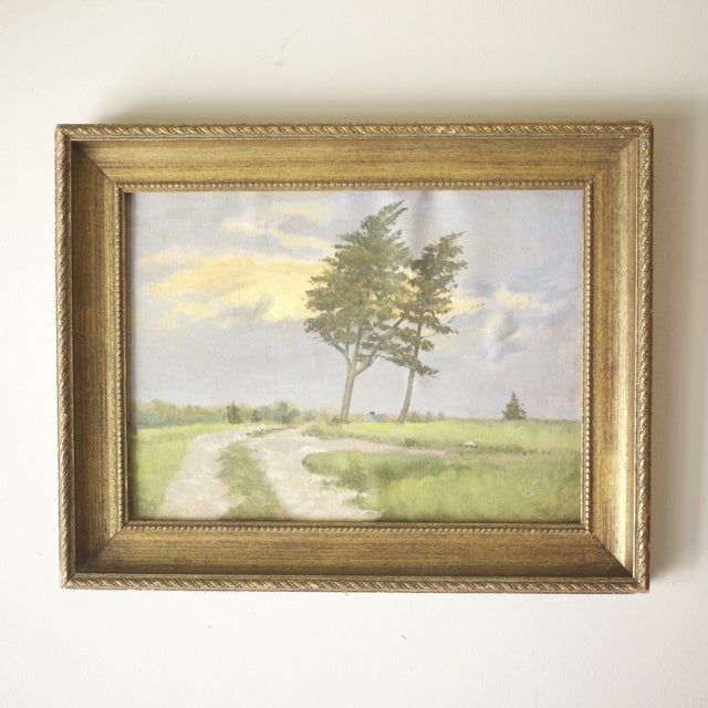 Framed Sunset Oil on Canvas by Dennis Broadbent - Image 2 of 3