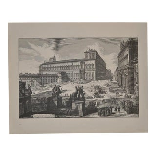 Piranesi Print by Sidney Z Lucas C.1950 For Sale