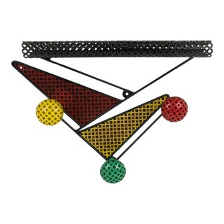 Mathieu Mategot Wall Mount Coat Rack Hanger and Hat Stand For Sale
