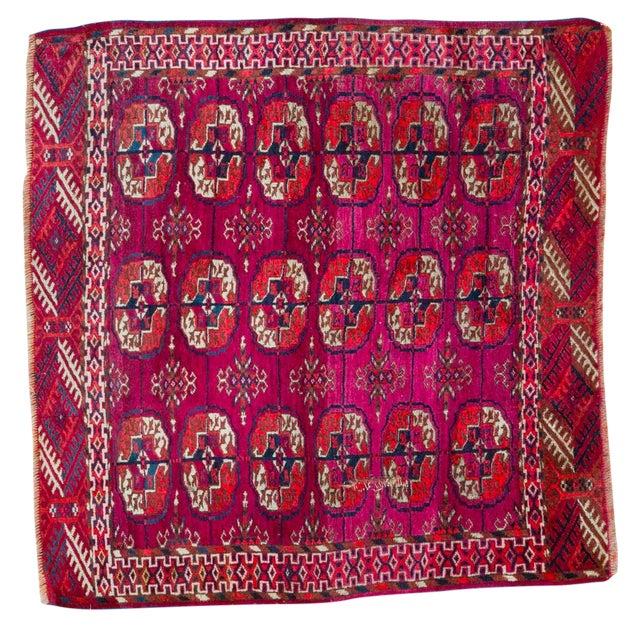 """Vintage Turkmen Square Rug - 3'4"""" X 3'4"""" - Image 1 of 8"""