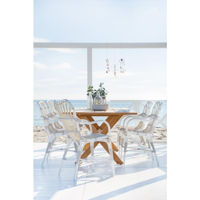 Margret Exterior Dining chair - Dove White For Sale - Image 4 of 8