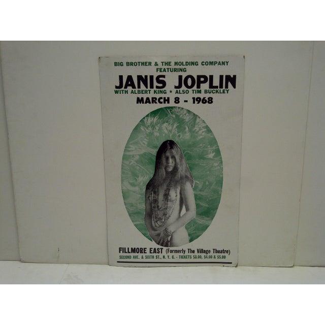 """Janis Joplin"" Concert Poster -- Filmore East Theatre -- March 8, 1968 (Reprint)"