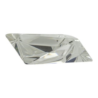 Vintage Crystal Faceted Ashtray
