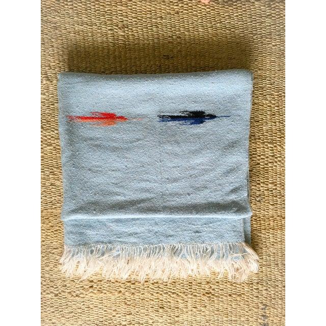 Vintage Blue Thunderbird Serape Blanket - Image 2 of 6