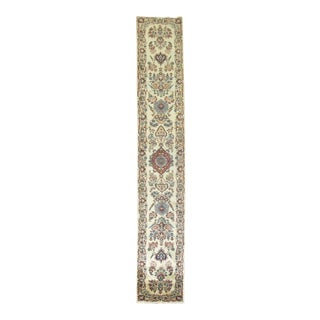 Traditional Narrow Kashan Runner, 2' X 13'3'' For Sale