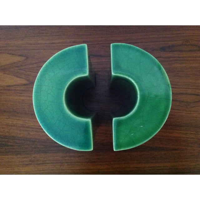 Raymor Green Ceramic Bookends - A Pair - Image 7 of 8
