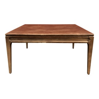 1960s Vintage Mersman Walnut Coffee Table For Sale