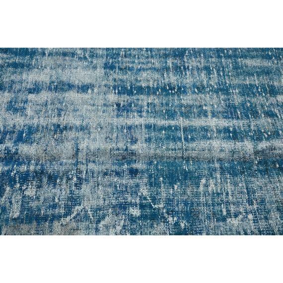 Vintage Handwoven Turkish Oushak Blue Rug - 6′2″ × 9′6″ - Image 5 of 6