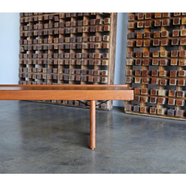 """Wood 1960s Vintage Teak """"Krobo'' Bench by Torbjørn Afdal for Bruksbo For Sale - Image 7 of 11"""
