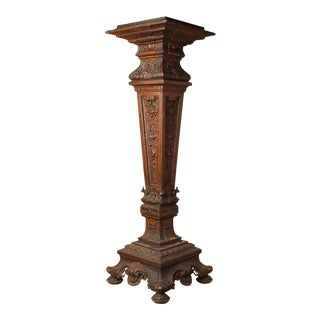 1900s Cast Metal Pedestal