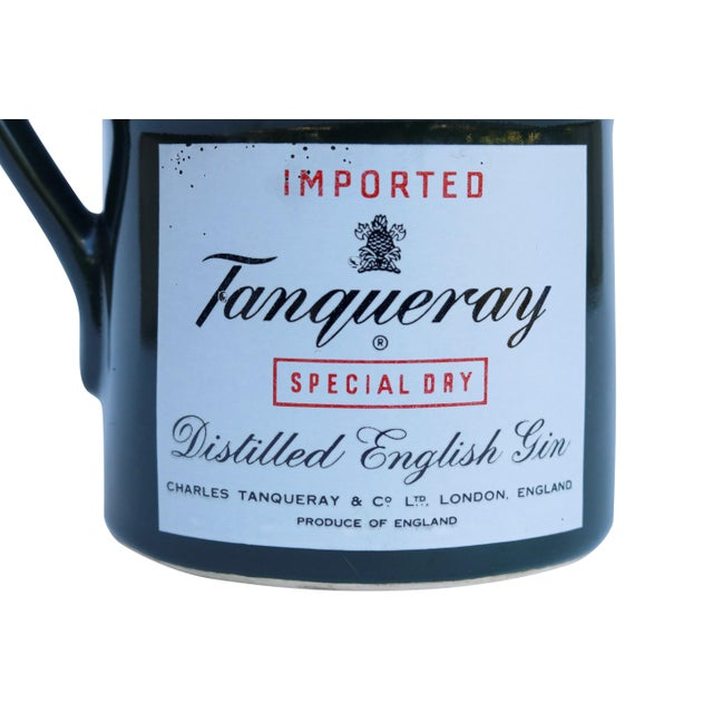 Mid 20th Century Tanqueray English Gin Ceramic Pitcher For Sale - Image 5 of 6