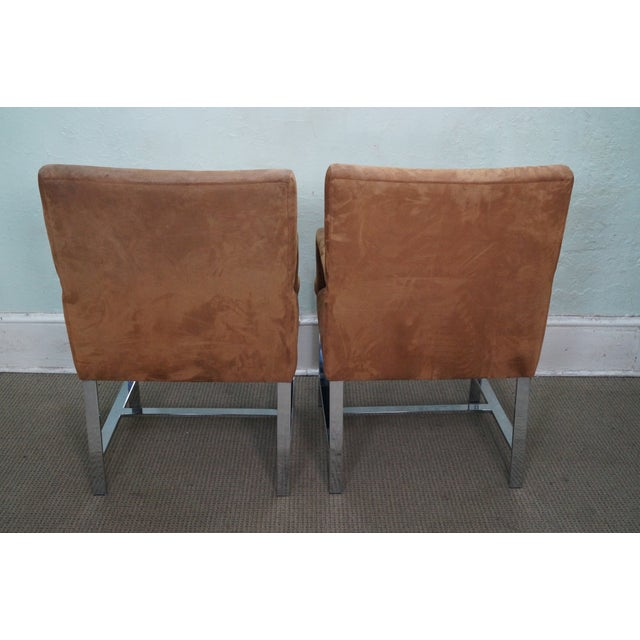 Milo Baughman Mid-Century Chrome Chairs - A Pair - Image 4 of 10