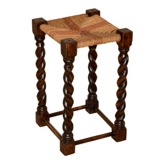 19th Century English Tall Stool For Sale