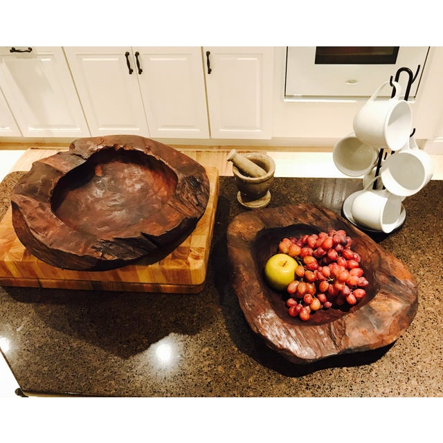 Teak Wood Bowls - A Pair - Image 7 of 12