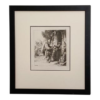 Late 18th Century Rembrandt Etching #6, by Francesco Novelli For Sale
