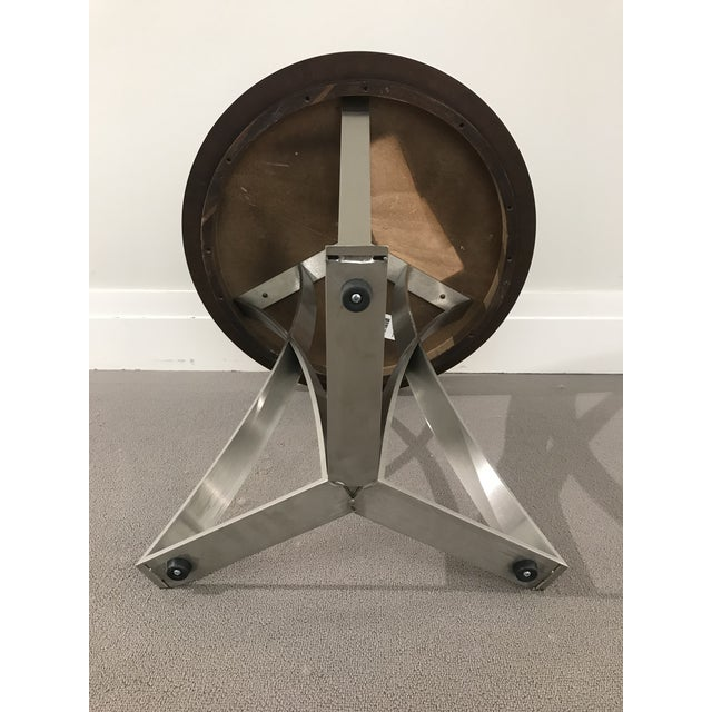 Metal Modern Kravet Metal and Wood Round Side Table For Sale - Image 7 of 11