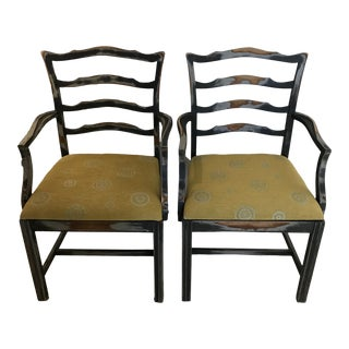 1930s Vintage Freshly Upholstered Shabby Chic Arm Chairs- A Pair For Sale