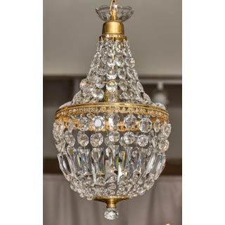 French Antique Crystal Pendant Chandeliers - a Pair Preview