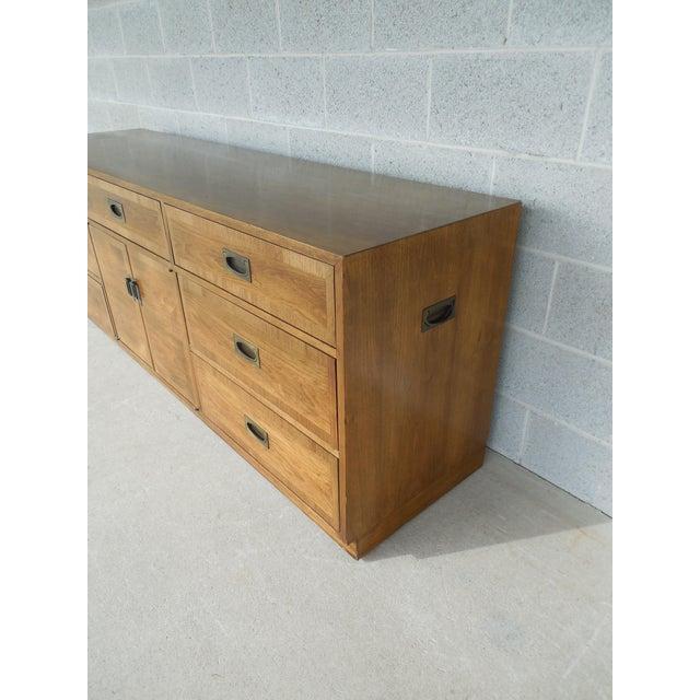"John Stuart Campaign Style Credenza / Dresser 28.5""H x 76""W - Image 3 of 11"