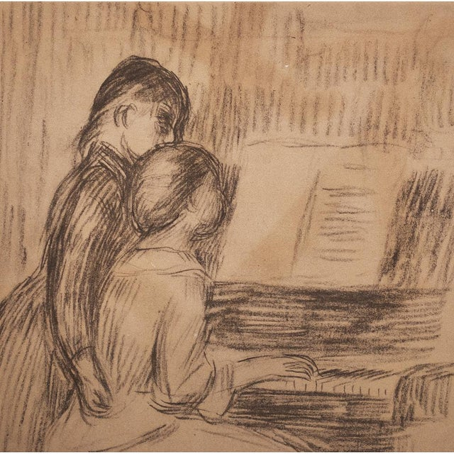 "American Classical 1959 Large ""The Music Lesson"" by Renoir, Lithograph For Sale - Image 3 of 10"