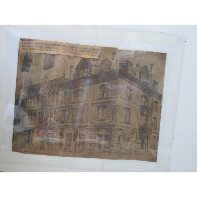 Orange 1957 LaVerne Krause Signed Idaho Coeur d'Alene Building Framed Oil Painting For Sale - Image 8 of 9