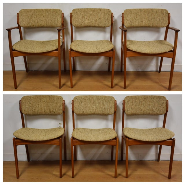 Erik Buck Teak Dining Chairs - Set of 6 - Image 2 of 11