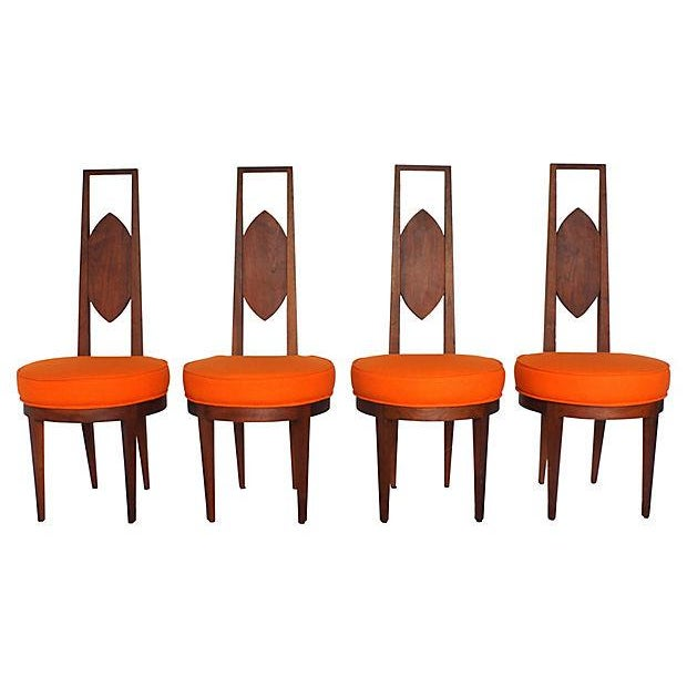 Mid-Century Modern Dining Chairs - Set of 4 - Image 2 of 5