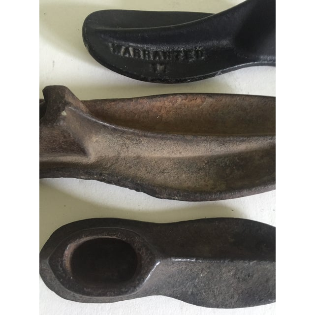Cast Iron Antique Cast Iron Industrial Shoemaker's Forms - Set of 3 For Sale - Image 7 of 9