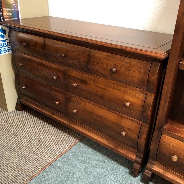 Traditional Capretti Designs 7-Drawer Dresser For Sale - Image 10 of 11