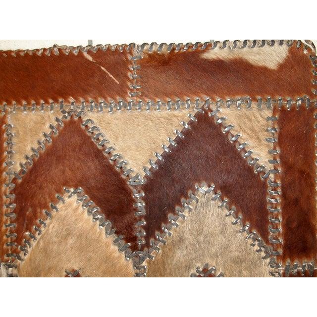 Handmade Vintage European Leather Rug