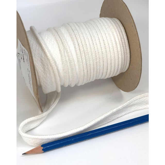 """Contemporary Braided 1/4"""" Indoor/Outdoor Cord in Bright White For Sale - Image 3 of 8"""