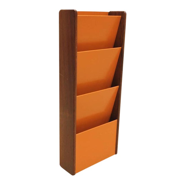 Peter Pepper Products Mid-Century Wall Mount Magazine Holder - Image 1 of 3
