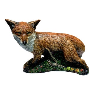 Majolica Style Model of a Fox For Sale