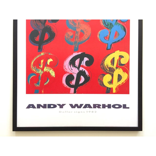 """Contemporary Andy Warhol Estate Rare Vintage 1989 1st Edition Lithograph Print Large Framed Pop Art Poster """" Dollar Signs """" 1982 For Sale - Image 3 of 13"""