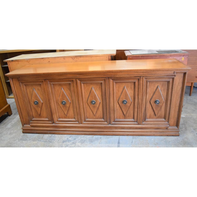 Late 19th Century Vintage Mount Airy Furniture Five Doors Credenza Cabinet For Sale - Image 9 of 9