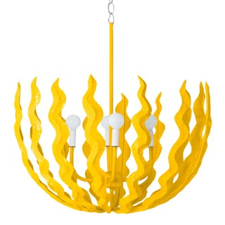 Stray Dog Designs for Chairish Chucho Chandelier, Yellow For Sale