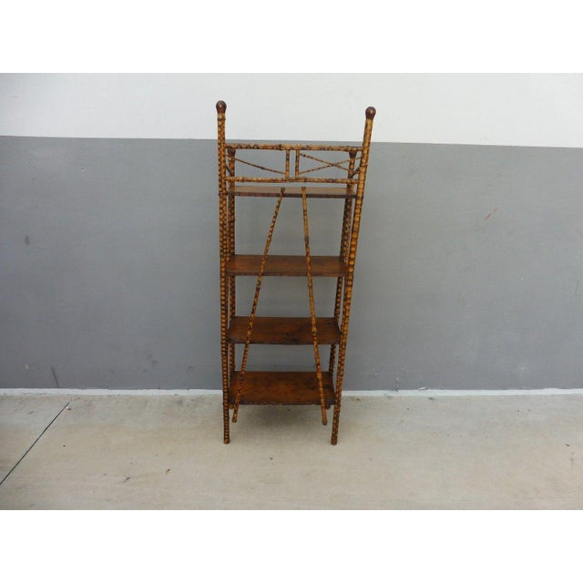 19th Century Victorian 4 Tier Bamboo Etagere For Sale - Image 9 of 10