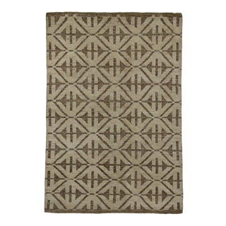 Modern Style Rug with High and Low Pile For Sale