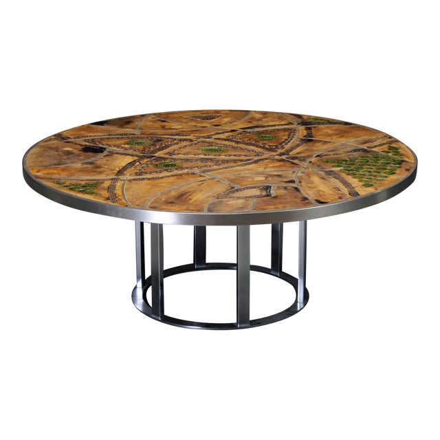 Round coffee table by Lilly Just Lichtenberg For Sale