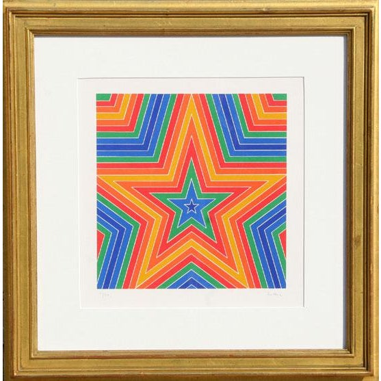 Modern 1970 Arthur Boden Star Print For Sale - Image 3 of 3