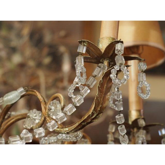 19th Century French Crystal Chandelier For Sale In New Orleans - Image 6 of 11